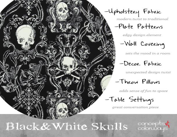 Black And White Skull Pillows Decorative Throw Zazzle