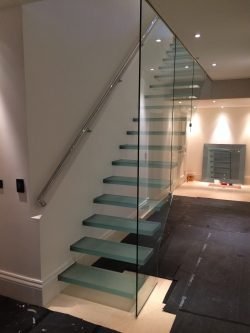 Beaconsfield Floating Glass Staircase Rgb Led Lit