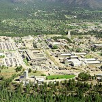 Aerial view of Los Alamos