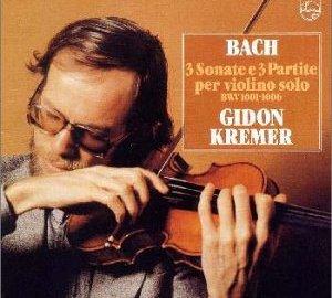 バッハ:無伴奏ヴァイオリン・ソナタとパルティータ クレーメル(ギドン)
