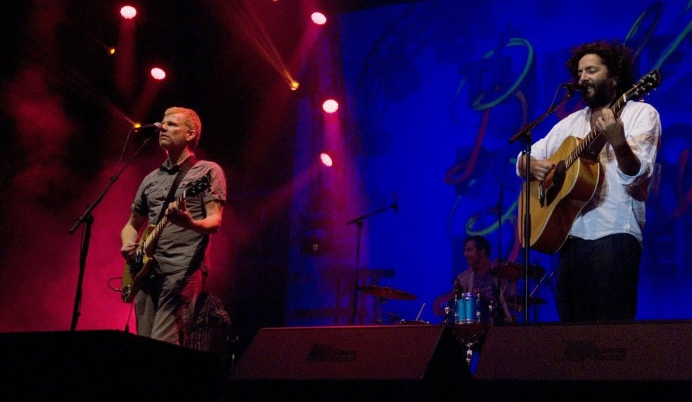 Newman and Bejar of The New Pornographers at PNE Amphitheatre