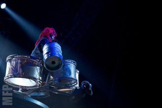 Shawn Clown Crahan of Slipknot @ White River Amphitheatre during Pain in the Grass © Michael Ford