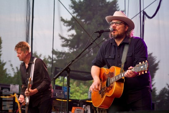 Nels Cline and Jeff Tweedy of Wilco at Marymoor Park © Michael Ford