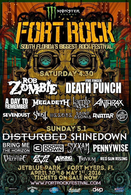 Fort Rock at Jetblue Park 2016 Lineup poster