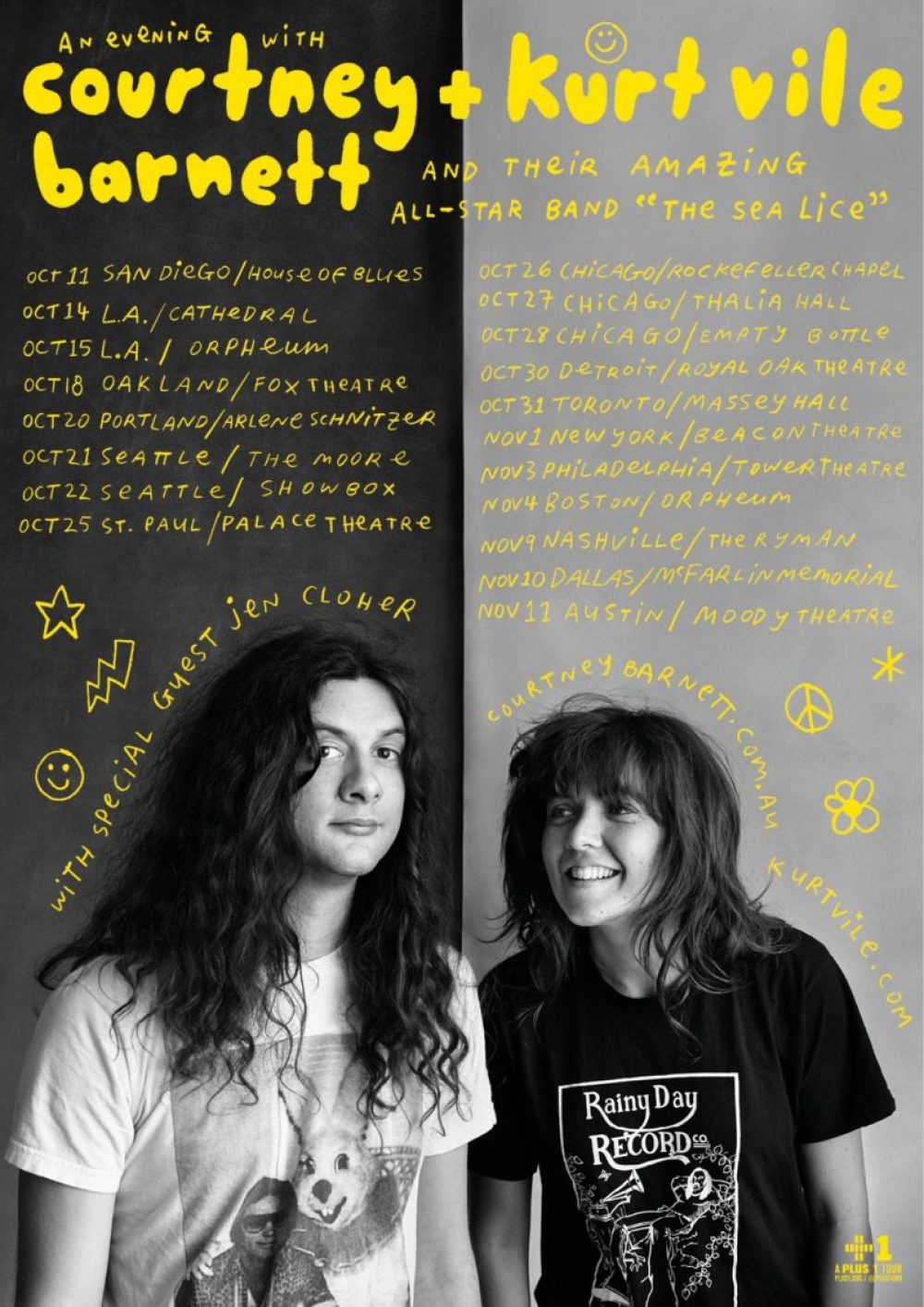 courtney barnett and kurt vile tour 2017 poster