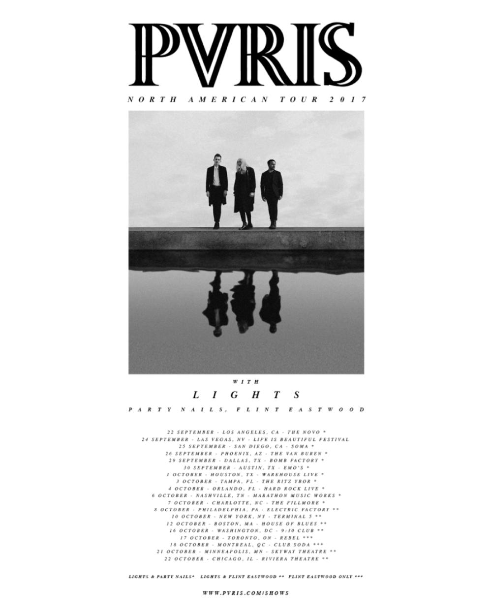 pvris tour 2017 poster