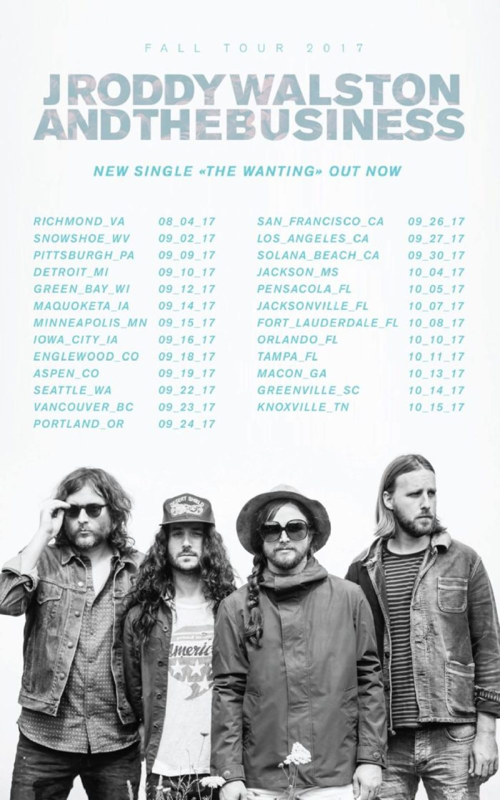J Roddy Walston And The Business 2017 tour dates poster