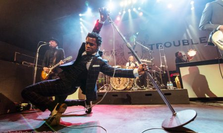 Ty Taylor of Vintage Trouble at Rickshaw Theatre in Vancouver, BC on November 12th 2017