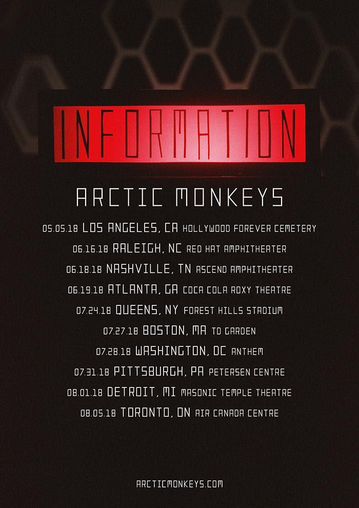 Arctic Monkeys_2018 NA Dates