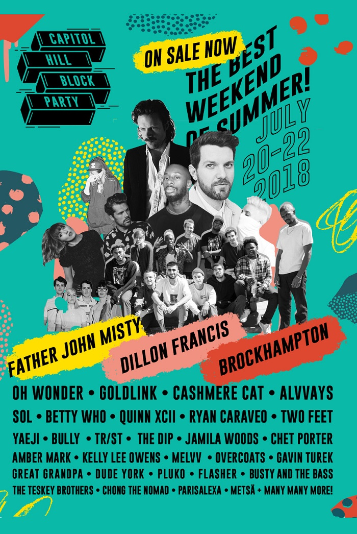 capitol hill block party 2018 lineup poster admat seattle