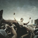 Crowd surfer during Fire From The Gods