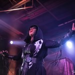 Cristina Scabbia performing with Lacuna Coil at the Soul Kitchen in Mobile