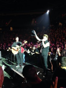 Papa Roach in the middle of the arena