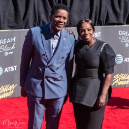 Jason White w/ his wife at the 34th Stellar Awards held at Orleans Arena, Las Vegas on March 29, 2019 in Las Vegas, NV, USA (Photo by: Mike Ware/Sipa USA)