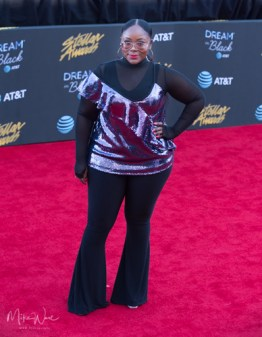 Keyondra Lockett at the 34th Stellar Awards held at Orleans Arena, Las Vegas on March 29, 2019 in Las Vegas, NV, USA (Photo by: Mike Ware/Sipa USA)