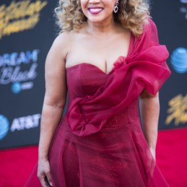 Erica Campbell at the 34th Stellar Awards held at Orleans Arena, Las Vegas on March 29, 2019 in Las Vegas, NV, USA (Photo by: Mike Ware/Sipa USA)