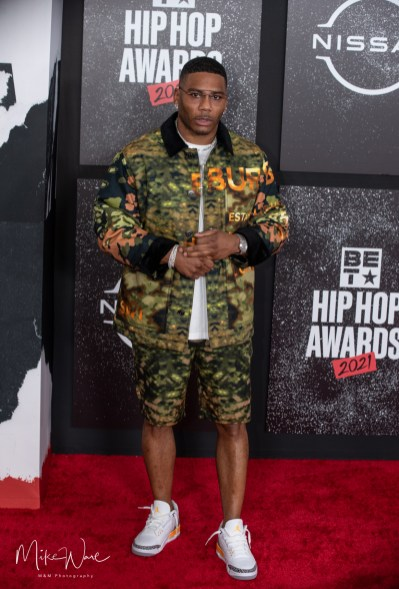 Nelly on the Red Carpet, 2021 BET Hip Hop Awards Atlanta, Ga. 10-1-21 (Photo By: Mike Ware/SIPA USA)