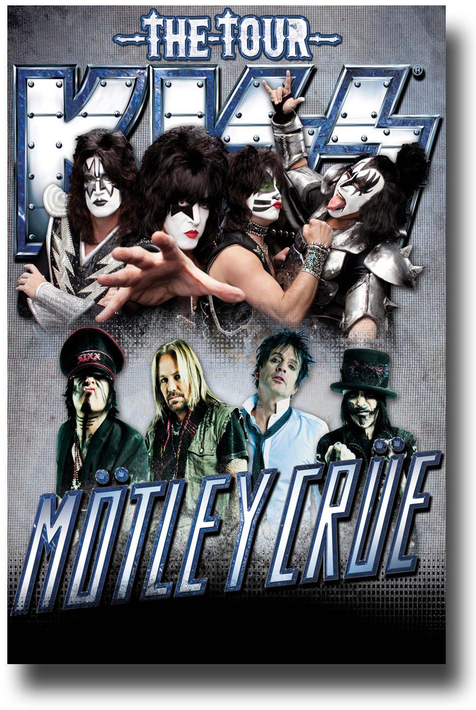 motley crue poster concert w kiss 11 x