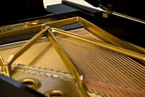 Steinway Grand Piano détails cordes