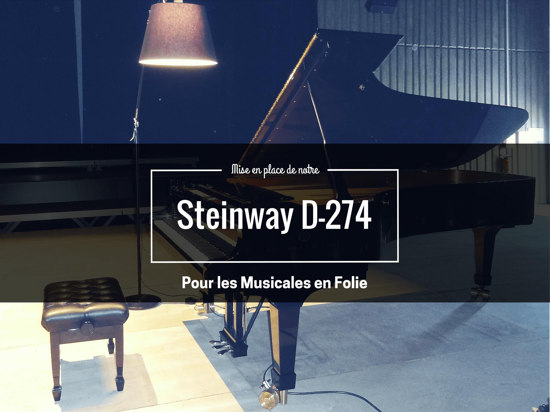 Mise en place Steinway Prévalet musique 1