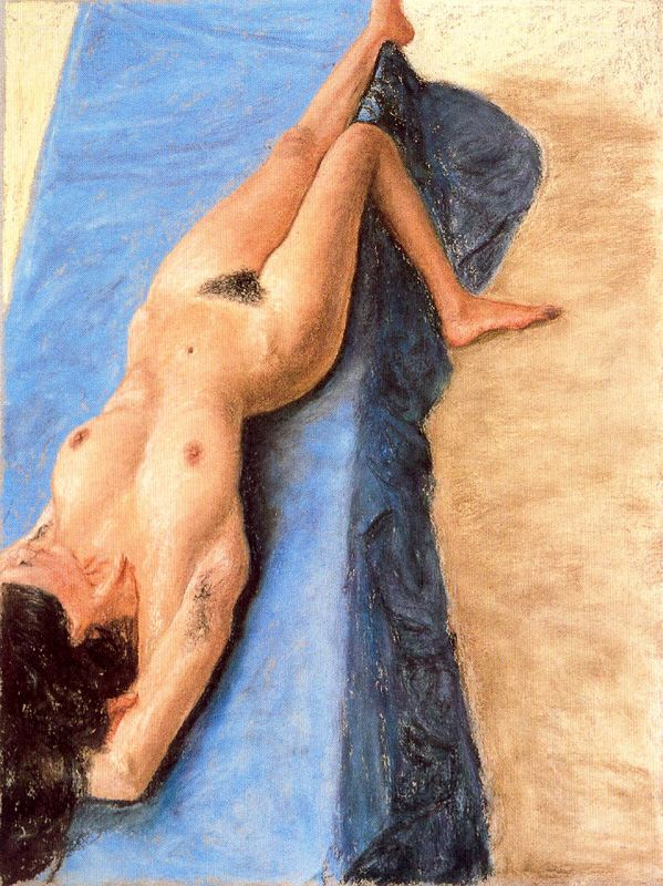 Foreshortened Reclined Nude
