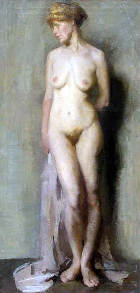 Nude With Draperies