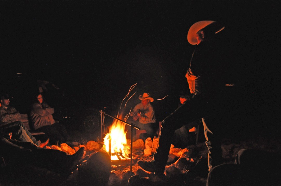Talking and Singing Around the Campfire