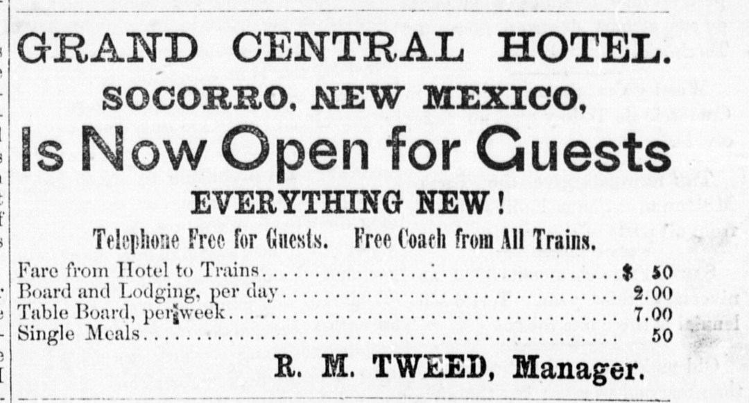 Ad, Lincoln County Leader, 1883