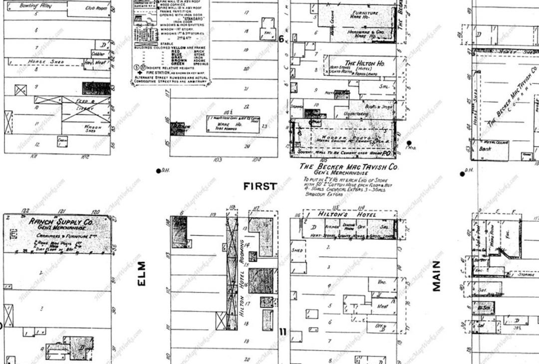 Street Map Magdalena, 1908