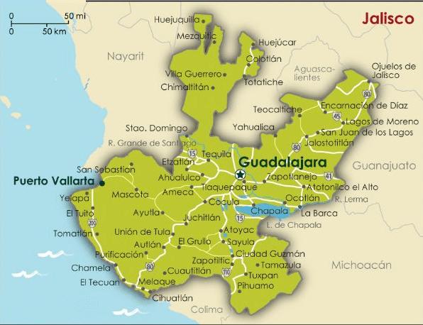 Mapa de Jalisco 2