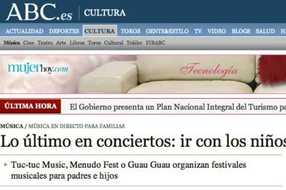 Conciertos Guau Guau - Prensa - ABC
