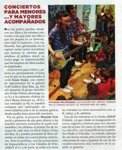 Conciertos Guau Guau - Prensa - On Madrid (El País)