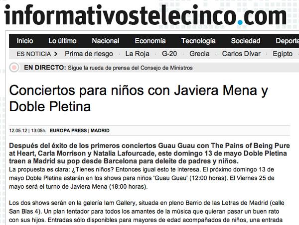 Conciertos Guau Guau - Prensa - Telecinco