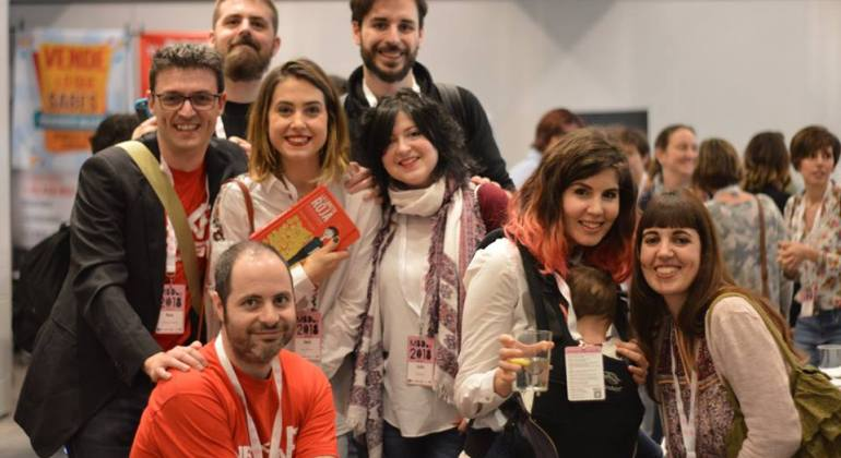 MBDay, foto de grupo de blogueros