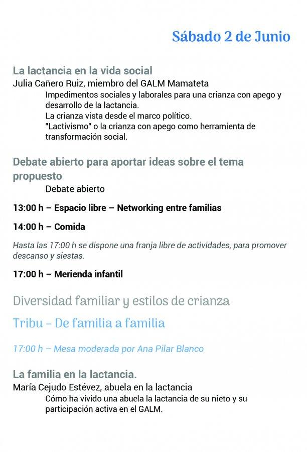 Foro Andaluz de Galms pagina de programa