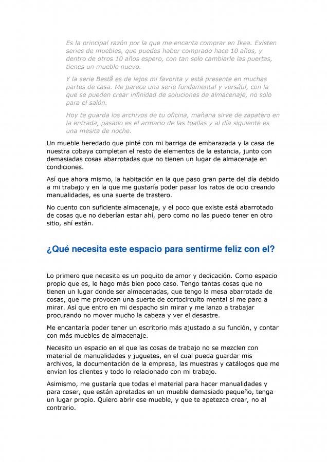 Extracto de la carta de amor para Ikea y Madresfera, como propuesta al concurso CasasConHistoria, pagina 5