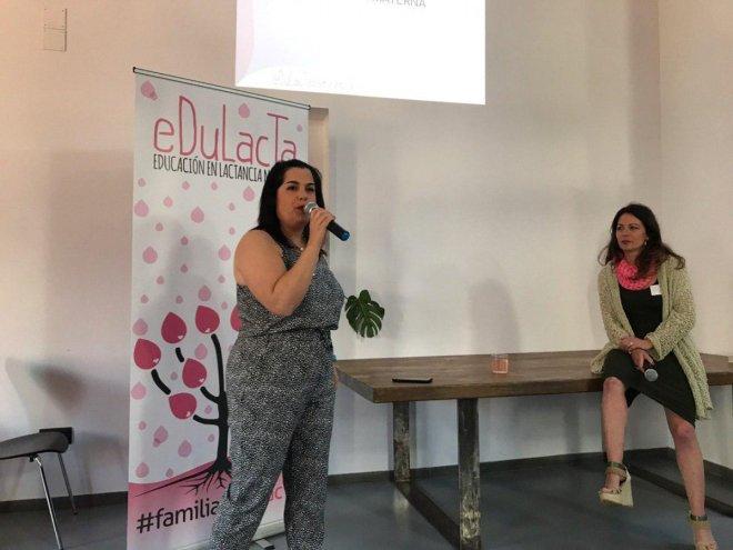 Ruth Giménez y Pilar Martinez en la I jornada de lactancia materna de Edulacta