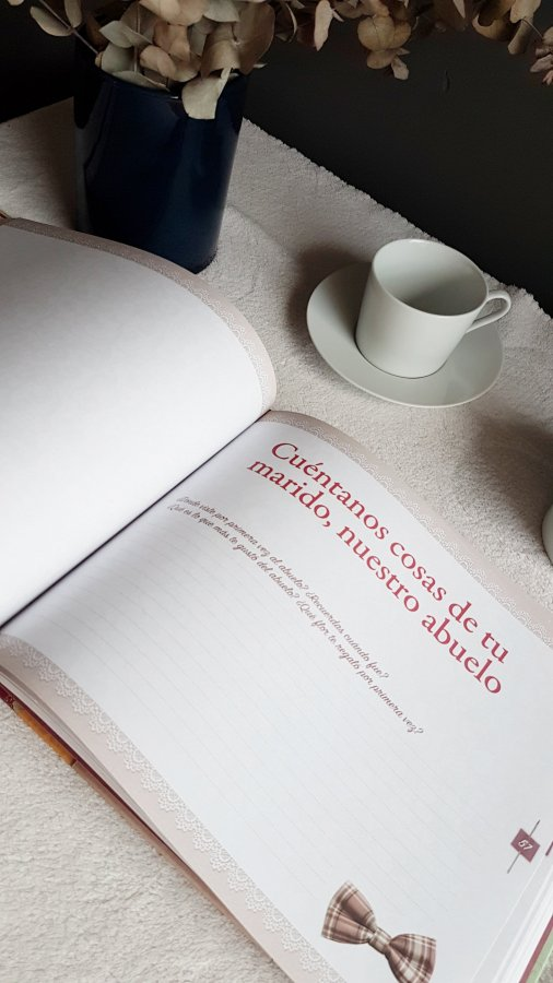 Interior del libro Abuela, háblame de ti , en la que se pregunta por el abuleo