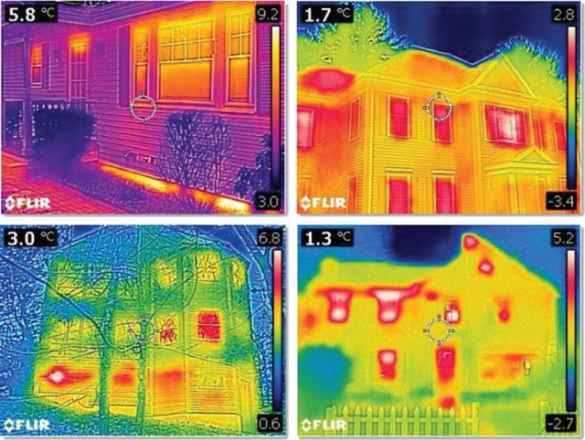 Students in our pilot tests took IR images of their own houses from the street.