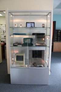 Our display case tribute to Steve Jobs' innovation