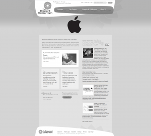 Concord.org home page – Steve Jobs memorial tribute