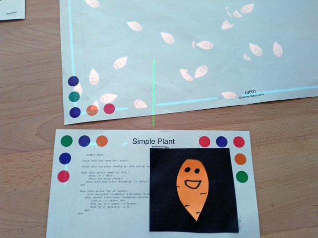 Figure 7. The carrot on the page becomes an agent in the simulation! The image is streamed live from the page and can be changed in real time.