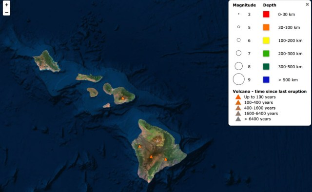 Hawai'i in Seismic Explorer