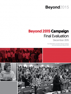 Beyond 2015 evaluation report cover