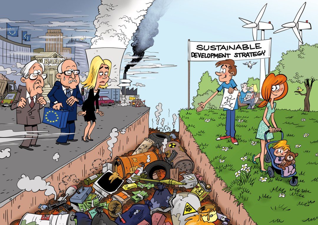 cartoon on sustainable Europe