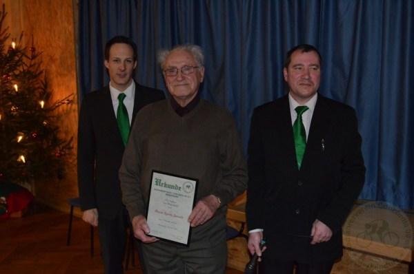 Seit 70 Jahren ist Ignaz Zwosta bei der Concordia Merkendorf dabei