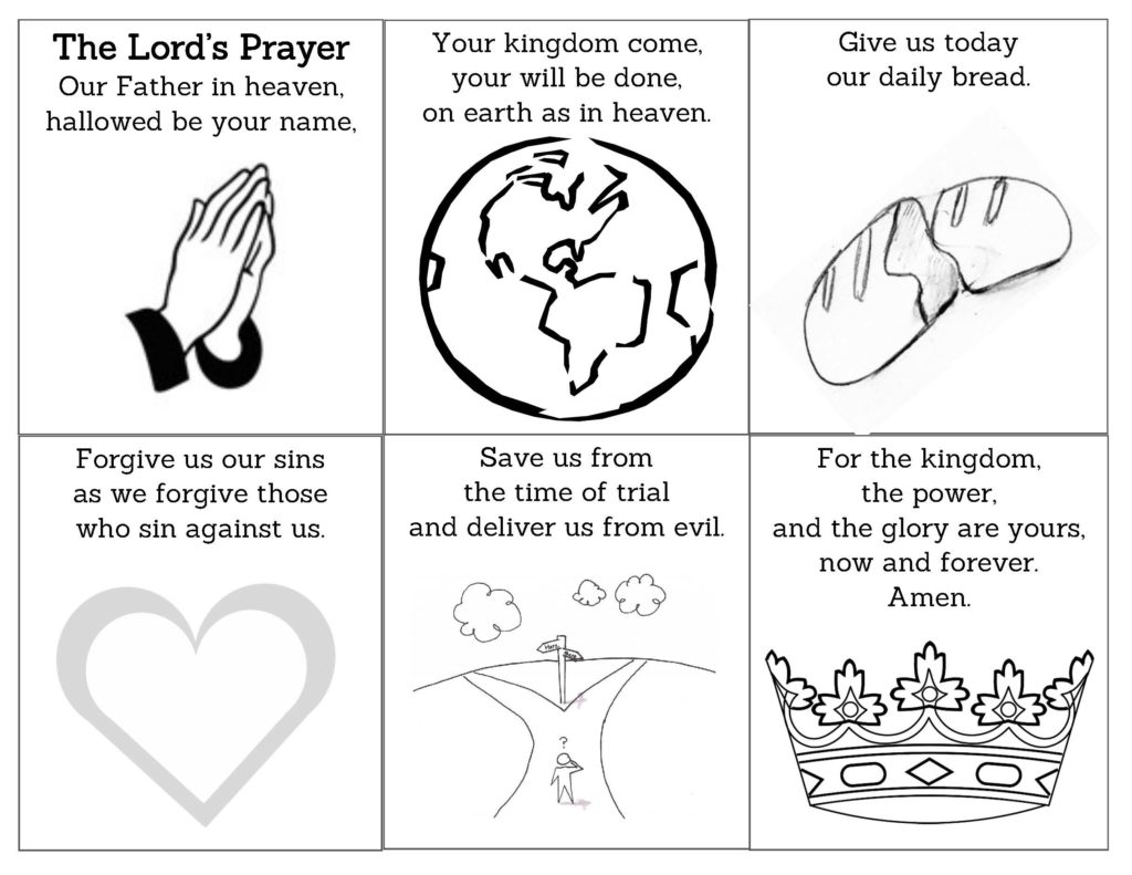 Lord S Prayer Coloring Activity