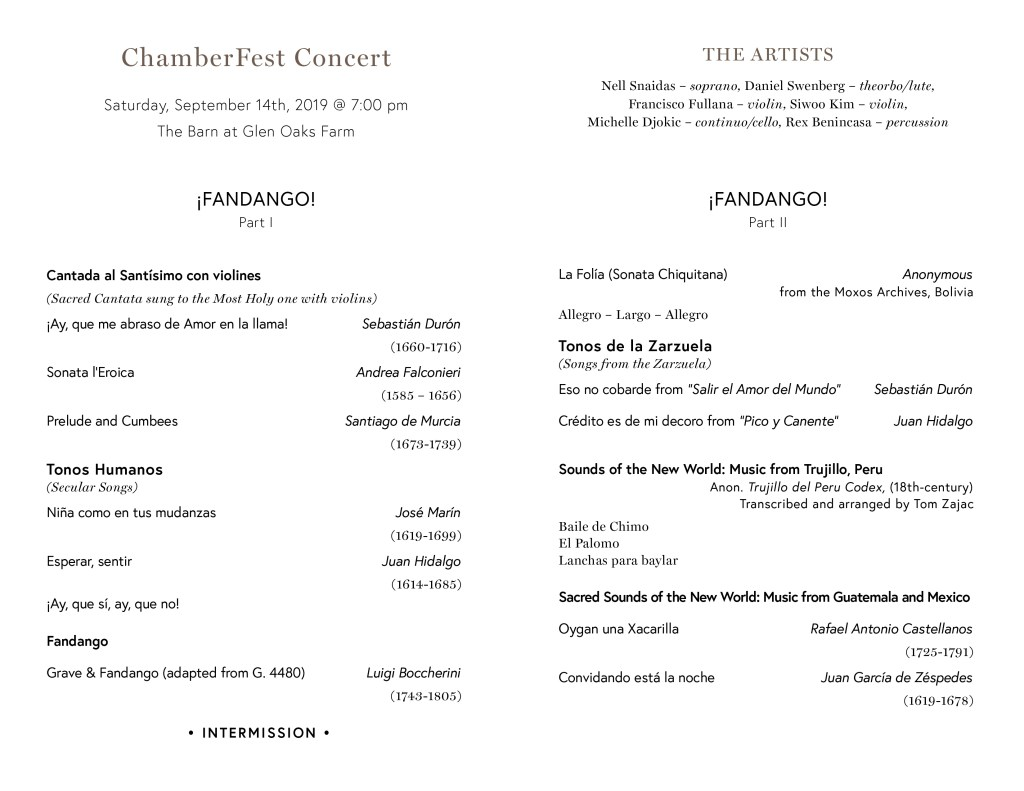2019-20 Subscription Season - Concordia Chamber Players