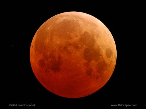 Total Lunar Eclipse, 2004. Photo credit: Fred Espenak