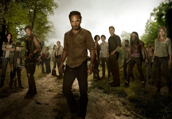 "The cast of the AMC show ""The Walking Dead"""